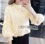 เสื้อเกาหลี พร้อมส่ง เสื้อผ้าลูกไม้ สีขาวสไตล์วินเทจเฟมินีน thumbnail 12
