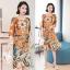 ชุดเดรสเกาหลี พร้อมส่ง Dress ทรงหน้าสั้นหลังยาว คอกลม thumbnail 9