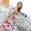 เดรสเกาหลี พร้อมส่ง ชุดเดรส ผ้าพิมพ์ลายหน้าผู้หญิงเกอิชา thumbnail 3