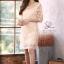 เดรสเกาหลี พร้อมส่่ง Dress ซีทรูปักผ้าดิ้น thumbnail 1