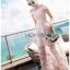 เดรสเกาหลี พร้อมส่ง เดรสสีชมพู เข้ารูปกระโปรงปักลายผีเสื้อ thumbnail 7