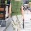 พร้อมส่ง เสื้อสีเขียวขี้มิา แต่งผืาเป็นชั้นๆ ทั่วตัว thumbnail 5