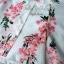 พร้อมส่ง เสื้อผ้าแฟชั่น พิมพ์ลายดอกซากุระสีชมพูหวาน thumbnail 10