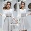 เดรสเกาหลี พร้อมส่ง Mini dress ลายตาราง Scott thumbnail 13