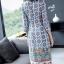 เดรสเกาหลี พร้อมส่ง ชุดเดรส ผ้าซาติลซิลพิมพ์ลาย thumbnail 5