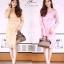 ชุดเดรสเกาหลี พร้อมส่ง Dress ซีทรูปักลูกไม้ดอกลอย thumbnail 1