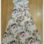 เดรสเกาหลี พร้อมส่ง เดรสยาว ผ้าสีขาวพิมพ์ลายดอกชบา thumbnail 9