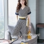 เสื้อผ้าเกาหลี พร้อมส่ง เสื้อกับกางเกง สีกรมพิมพ์ลายตาราง thumbnail 6