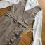 เดรสเกาหลี พร้อมส่ง เดรสลายสก็อต สีเบจทับเสื้อลูกไม้สีขาว thumbnail 14