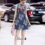 เดรสเกาหลี พร้อมส่ง เดรสผ้าลูกไม้ พิมพ์ลายดอกไม้ thumbnail 5