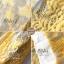 เดรสลูกไม้ พร้อมส่ง เดรสลูกไม้ สีเหลือง เนื้อผ้าทอลายดอก thumbnail 7