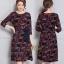 ชุดเดรสเกาหลี พร้อมส่ง Dress คอกลม แขนศอก thumbnail 10