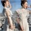 เดรสเกาหลี พร้อมส่ง เดรสผ้าลูกไม้ สีขาวทรงคอสูงตกแต่งระบาย thumbnail 12