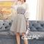 เดรสเกาหลี พร้อมส่ง Mini dress ลายตาราง Scott thumbnail 10