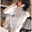 เสื้อเกาหลี พร้อมส่ง เสื้อผ้าคอตตอนสีขาวทรงคอสูง thumbnail 11