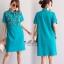 เดรสเกาหลี พร้อมส่ง Dress คอโปโล แขนสั้น thumbnail 17