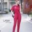 เสื้อผ้าเกาหลี พร้อมส่ง เสื้อยืดคอกลม กับ กางเกงเอวยืด thumbnail 2