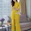เสื้อผ้าเกาหลี พร้อมส่ง เสื้อ+กางเกง งานผ้าลูกไม้ทอลาย thumbnail 3