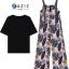 เสื้อผ้าเกาหลี พร้อมส่ง Set เสื้อยืด+เอี้ยมขายาว thumbnail 2