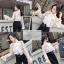 เสื้อเกาหลี พร้อมส่ง เสื้อชีฟอง ลายดอก คอโบว์ thumbnail 14