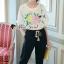 พร้อมส่ง เสื้อปักลายดอกไม้กับกางเกง thumbnail 6