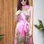 เดรสเกาหลี พร้อมส่ง Dress อัดพลีท ปริ้นลายดอก thumbnail 4