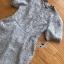 ชุดเดรสเกาหลี พร้อมส่ง เดรสผ้าลูกไม้ สีเทาอ่อน thumbnail 12