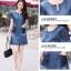 เดรสเกาหลี พร้อมส่ง dress ทรง a ทรงใส่น่ารัก thumbnail 10