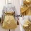 พร้อมส่ง Mini dress มาพร้อมเชือกผ้าผูกเอว thumbnail 4