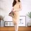 ชุดเดรสเกาหลี พร้อมส่ง Dress ซีทรูปักลูกไม้ดอกลอย thumbnail 3