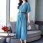 เสื้อผ้าเกาหลี พร้อมส่ง ชุดจั๊มสูทคอวี thumbnail 3