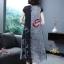 เดรสเกาหลี พร้อมส่ง เดรสผ้าคอตตอนผสมลินิน ลายดอกฝิ่น thumbnail 7