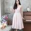 ชุดเดรสเกาหลี พร้อมส่ง Dress ผ้าไหมคอวี thumbnail 9