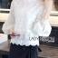 เสื้อเกาหลี พร้อมส่ง เสื้อผ้าลูกไม้ สีขาวสไตล์วินเทจเฟมินีน thumbnail 7