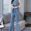 เสื้อผ้าเกาหลี พร้อมส่ง เสื้อแขนกุด กับ กางเกงทรงขาม้าผ่าหน้า thumbnail 5