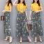 เสื้อผ้าเกาหลี พร้อมส่ง เสื้อสีเหลือง กับ กางเกงผ้าลายดอก thumbnail 6