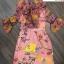 เดรสเกาหลี พร้อมส่ง เดรส ผ้าไหมซิลค์ปริ้นลายดอกไม้ thumbnail 8