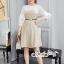 เดรสเกาหลี พร้อมส่ง Mini dress ลายตาราง Scott thumbnail 5