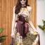 เดรสเกาหลี พร้อมส่ง Dress อัดพลีท ปริ้นลายดอก thumbnail 12