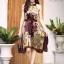 เดรสเกาหลี พร้อมส่ง Dress อัดพลีท ปริ้นลายดอก thumbnail 10