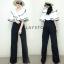 เสื้อผ้าเกาหลี พร้อมส่ง ชุดจัมพ์สูทกางเกงขายาว thumbnail 2