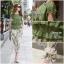 พร้อมส่ง เสื้อสีเขียวขี้มิา แต่งผืาเป็นชั้นๆ ทั่วตัว thumbnail 7