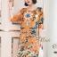 ชุดเดรสเกาหลี พร้อมส่ง Dress ทรงหน้าสั้นหลังยาว คอกลม thumbnail 3