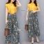 เสื้อผ้าเกาหลี พร้อมส่ง เสื้อสีเหลือง กับ กางเกงผ้าลายดอก thumbnail 1