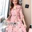 เดรสเกาหลี พร้อมส่ง ชุดเดรส สีชมพูพิมพ์ลายดอกไม้ thumbnail 7