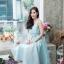ชุดเดรสเกาหลี พร้อมส่ง Dress ผ้าไหมคอวี thumbnail 4