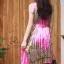 เดรสเกาหลี พร้อมส่ง Dress อัดพลีท ปริ้นลายดอก thumbnail 8