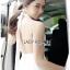 เสื้อผ้าแฟชั่นเกาหลี พร้อมส่ง จัมป์สูท สีขาวทรงผูกคอ thumbnail 4