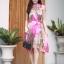เดรสเกาหลี พร้อมส่ง Dress อัดพลีท ปริ้นลายดอก thumbnail 2