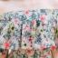 เสื้อผ้าเกาหลี พร้อมส่ง จั๊มสูท ปาดไหล่ขายาวพิมพ์ลายดอก thumbnail 14